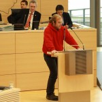 Björn Thoroe hält Rede im Landtag