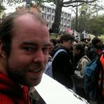 Björn Thoroe (DIE LINKE) beim Bildungsstreik 2012